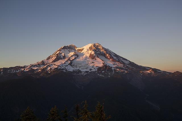 Hora Mount Rainier v národním parku