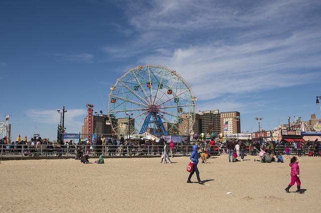 Pohled na Lunapark na Coney Island