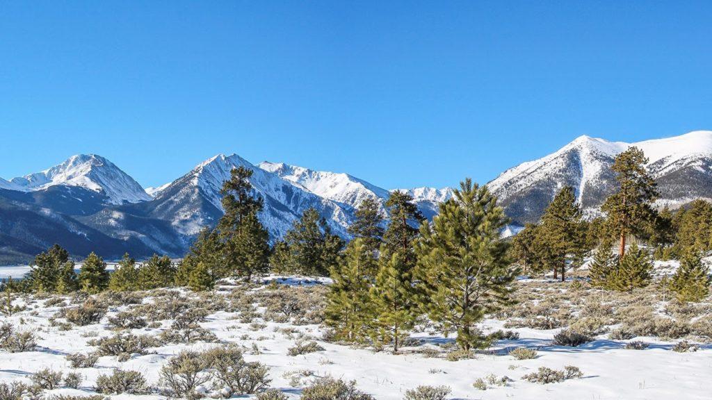 Zimní krajina v Severní Americe