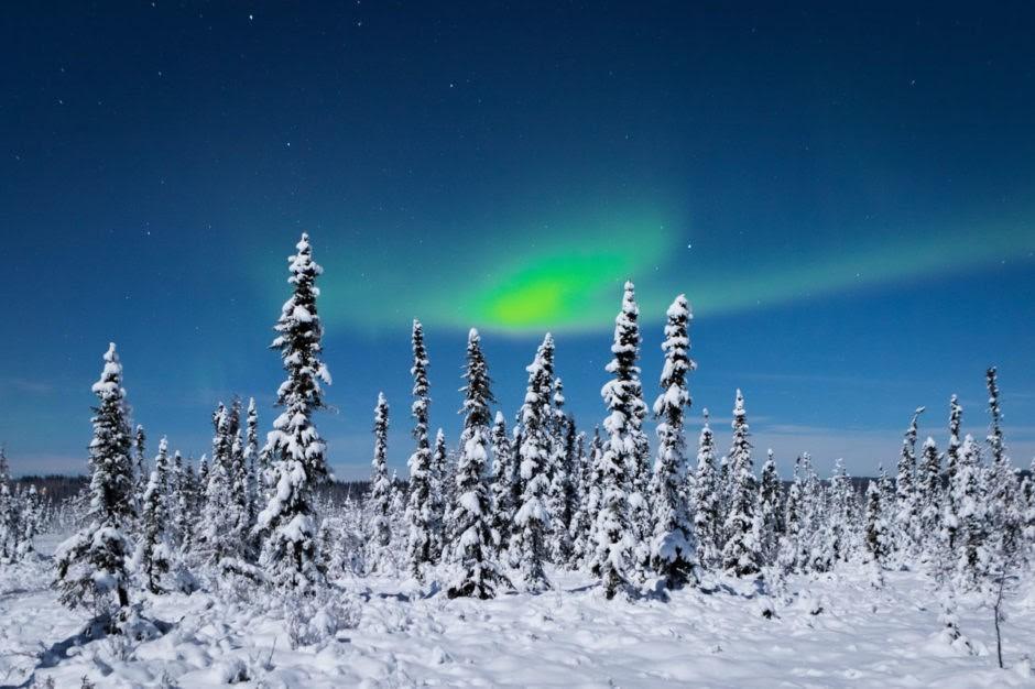 Zimní Fairbanks, Anchorage, Aljaška