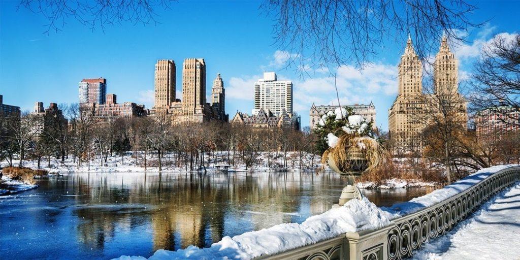 New York city v zimě