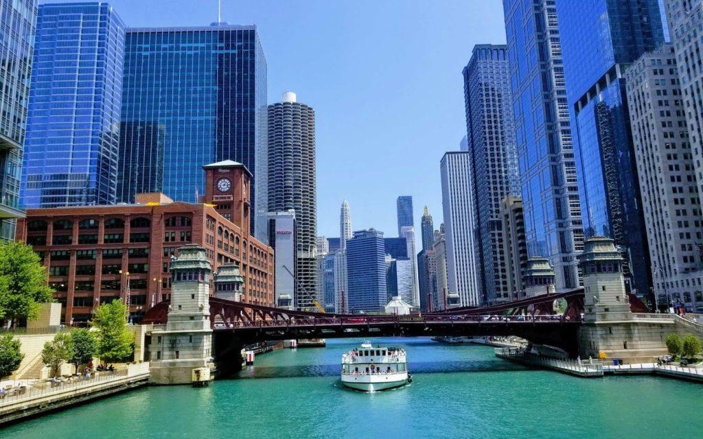 fotografie typického amerického města
