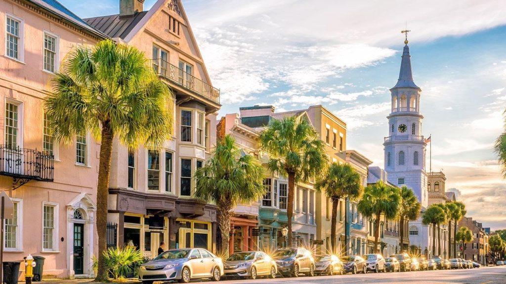 město Charleston, jedno z kulturních center Spojených států