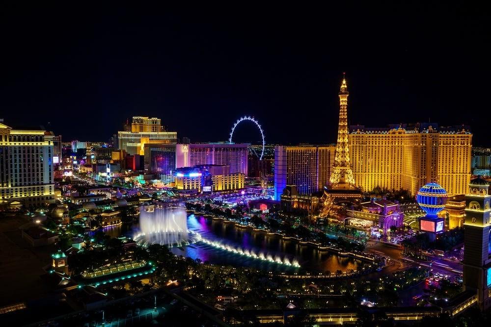 centrum zábavního průmyslu a hazardu, Las Vegas v Nevadě