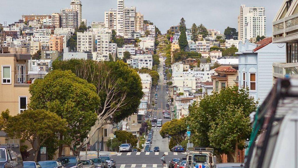 město San Francisco na západním pobřeží Spojených států