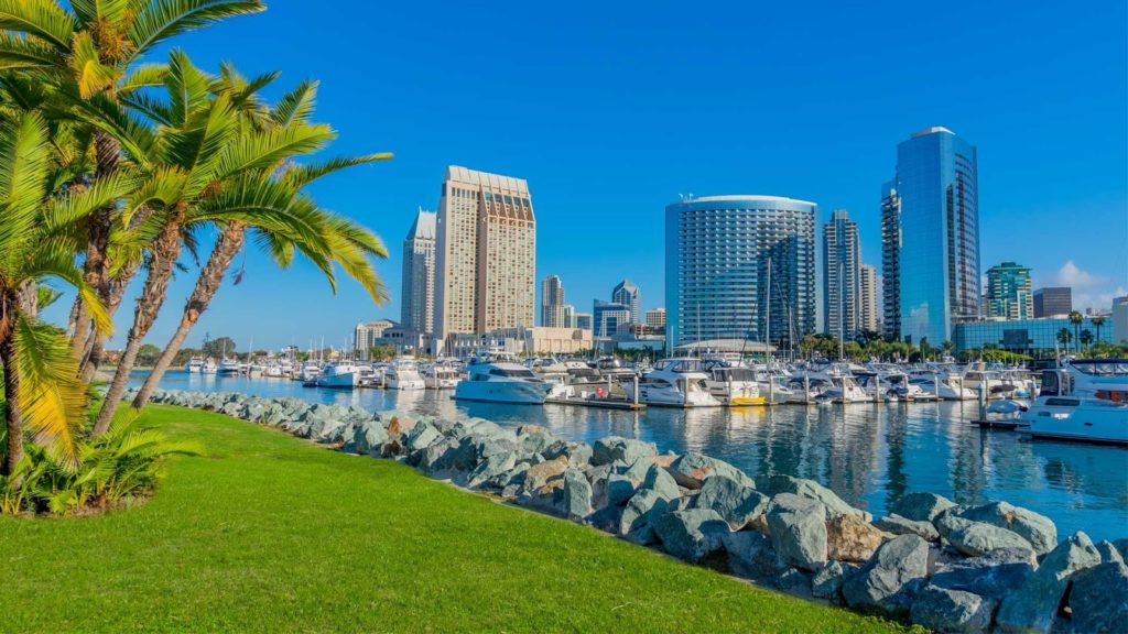 San Diego, další z prosluněných měst v Kalifornii