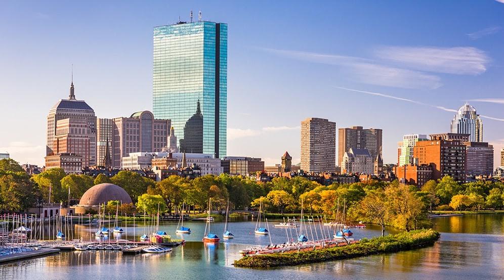 Jedno z nejstarších amerických měst, Boston