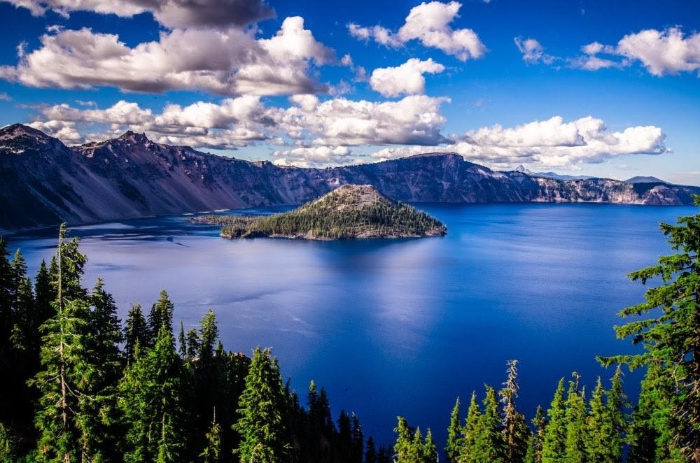 národní park Crater Lake v USA