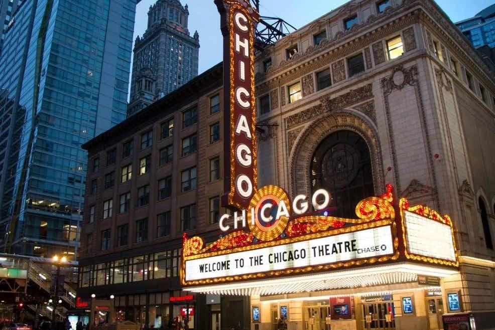 tůra po divadlech Chicaga