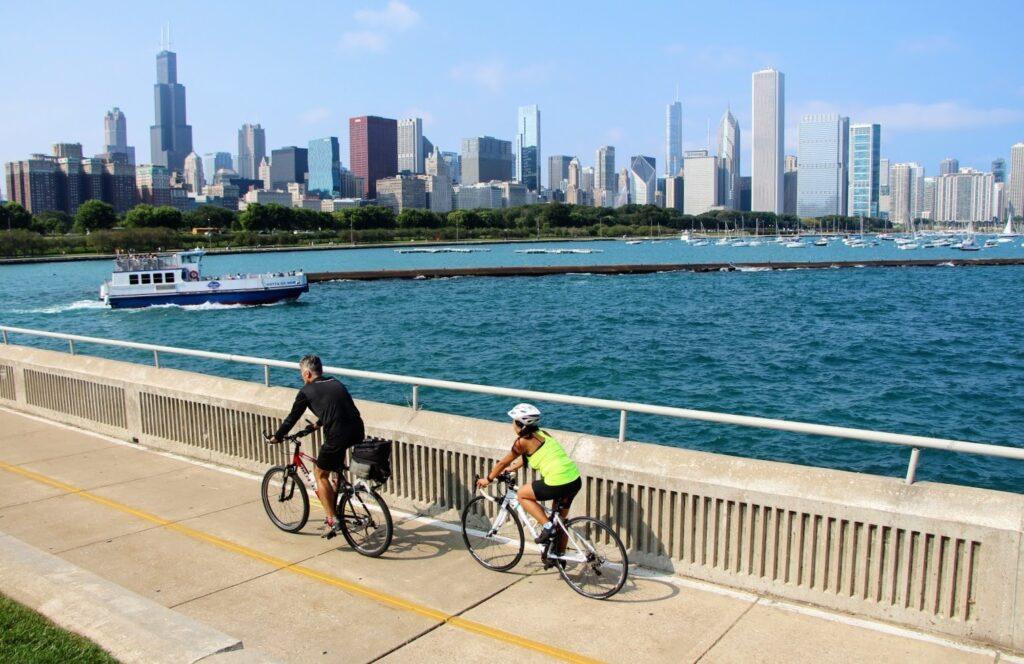 poznejte Chicago při projížďce na kole