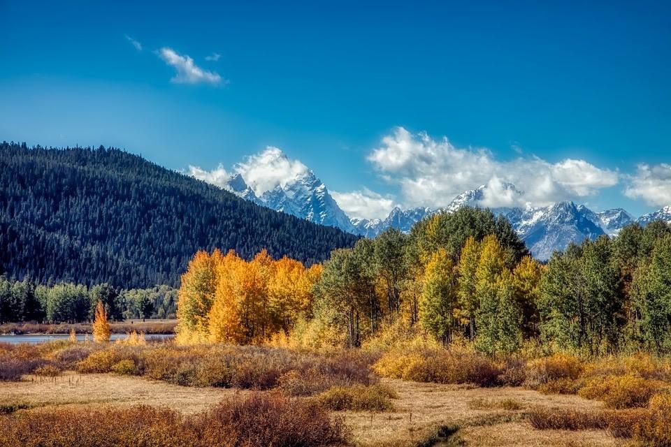 scenérie národního parku Grand Teton