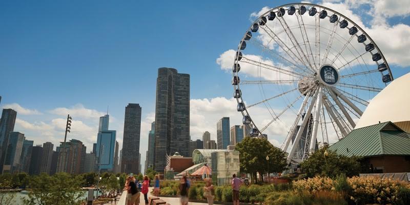 ruské kolo Centennial Wheel na Navy Pier