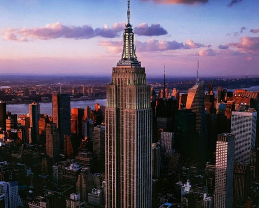 americká Empire State Building v New YOrku
