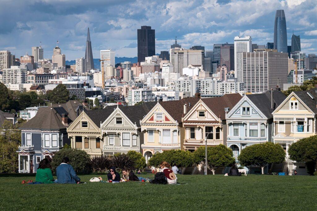kalifornské San Francisco s fungující mhd
