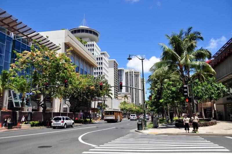 havajské město Honolulu