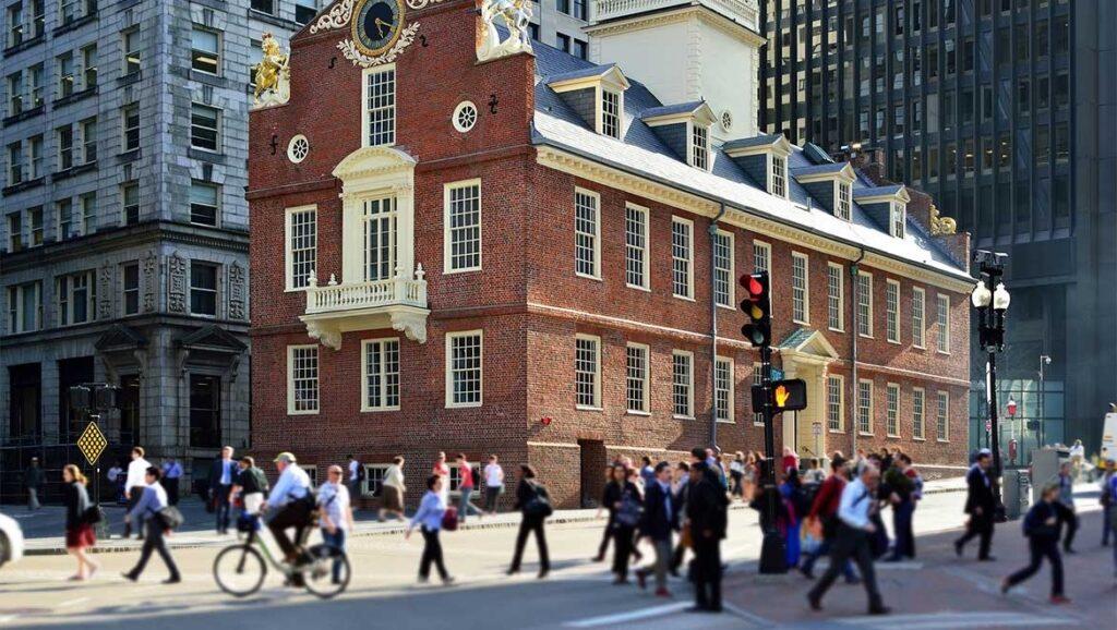 trek The Freedom Trail ve městě Boston