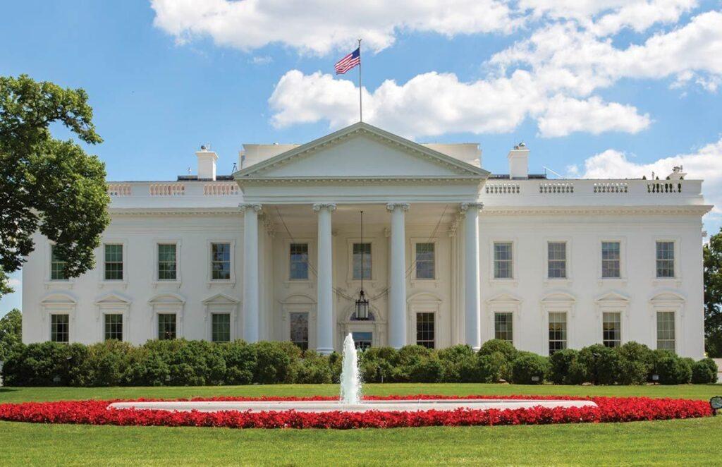 fotografie Bílého domu,m tradičního sídla amerických prezidentů