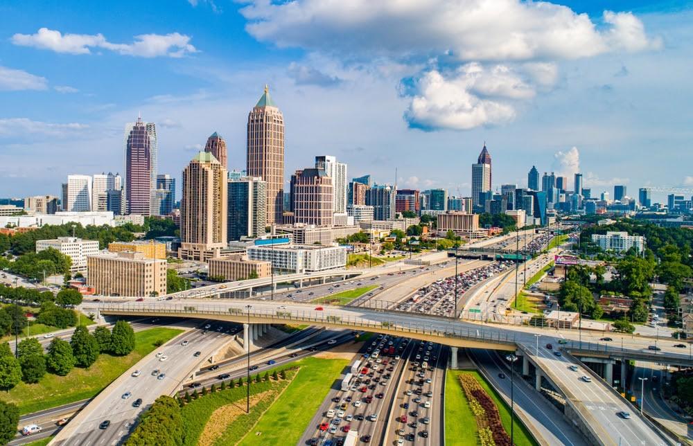 mrakodrapy Atlanty ve státě Georgia, US