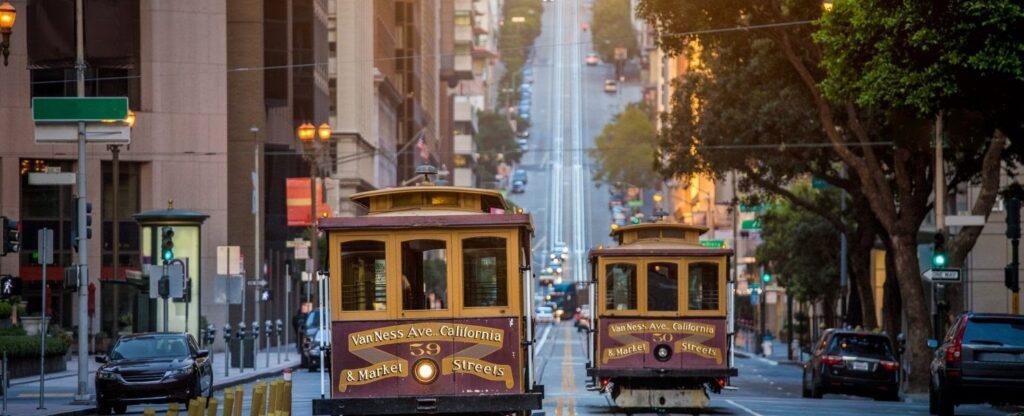 romantické tramvaje v San Franciscu