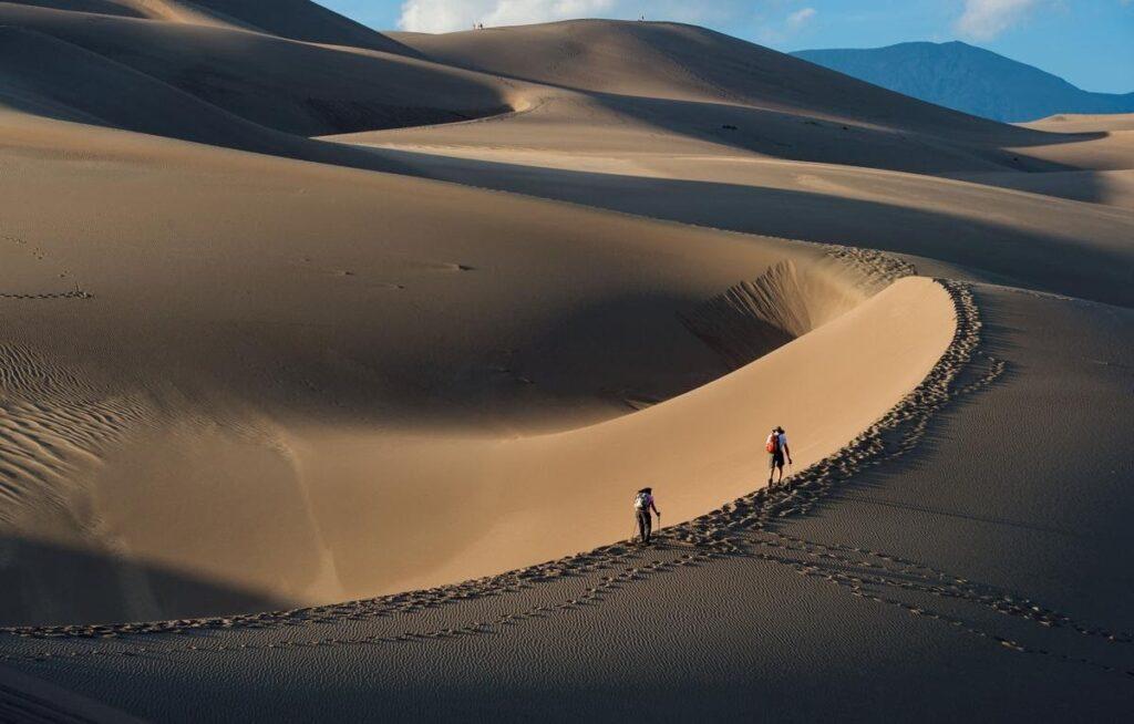 Písek všude - Great Sand Dunes v Coloradu
