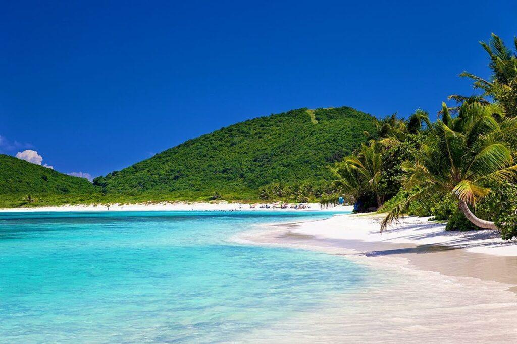 Pláž Culebra v Portoriku, které patří k USA