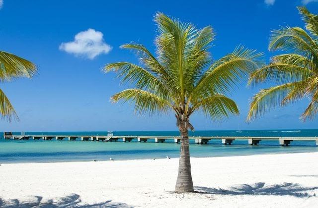 exotická pláž floridského Key West