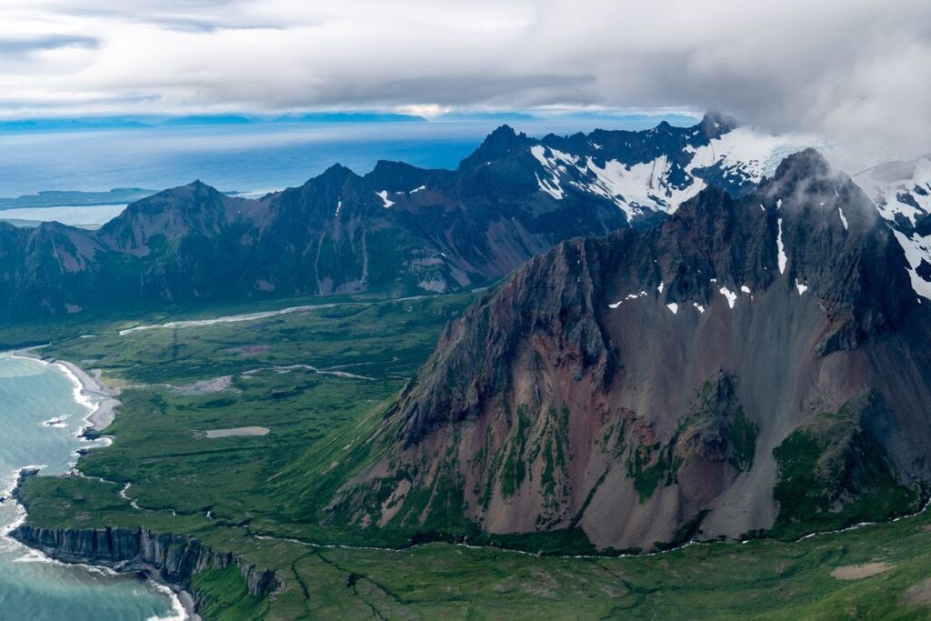 pobřeží Aljašských Aleutských ostrovů