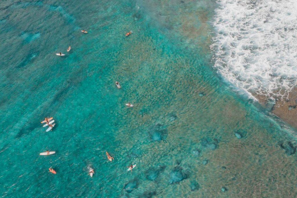 exotická pláž v Severní Americe
