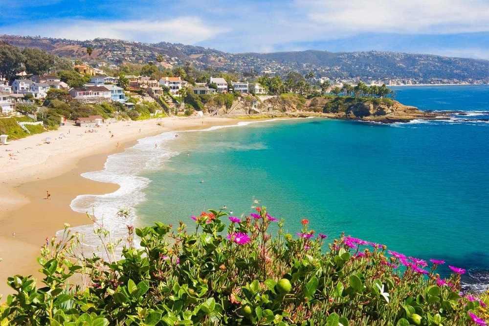 slunné pobřeží jižní kalifornie