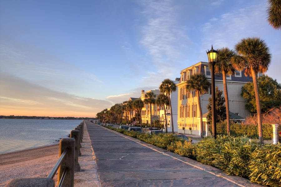 pobřežní ulice města Charleston