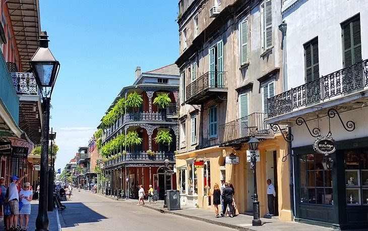 odpoledne v centru New Orleans