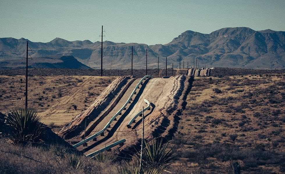 pouštní krajina Texasu