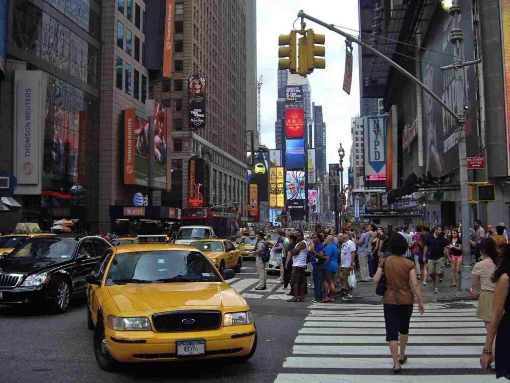 ulice newyorského Manhattanu