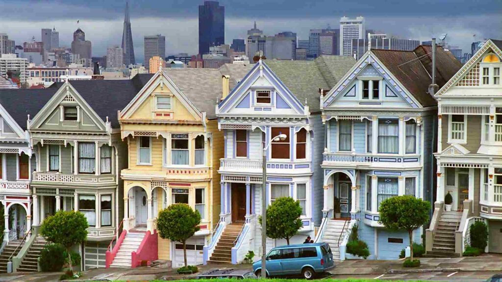 domy typické pro San Francisco