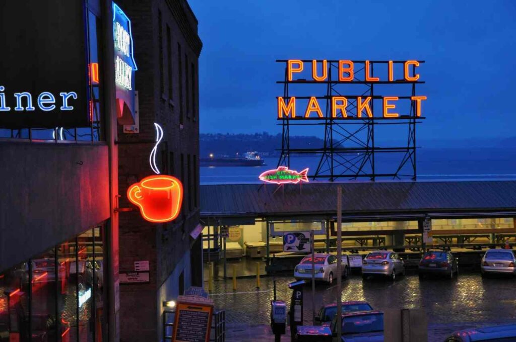 populární trh Pike Place Market